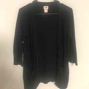 Mossimo black button up sweater